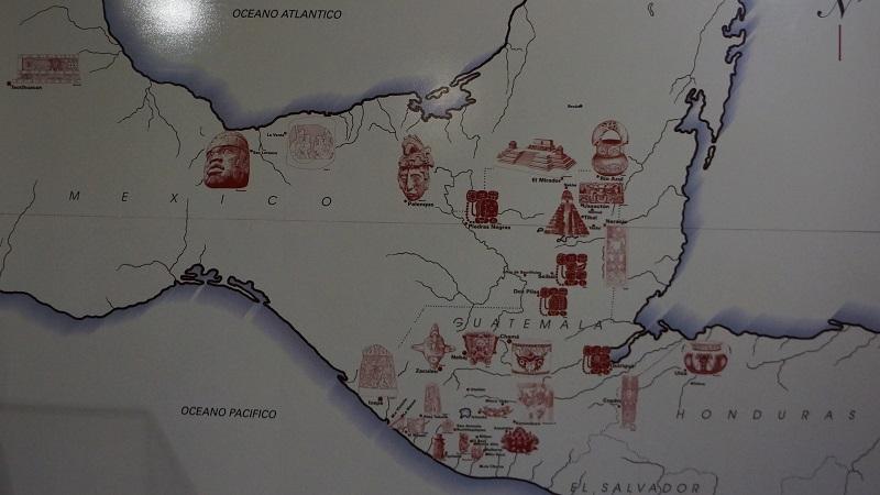 Die Region mit Maya-Stätten