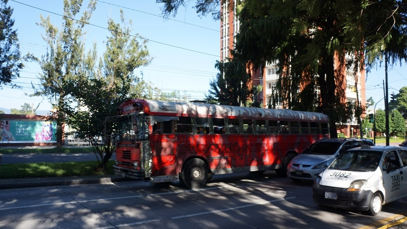Stadtbus auf der Avenida La Reforma