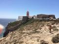 Leuchtturm und Gebäude beim Cabo Sao Vicente