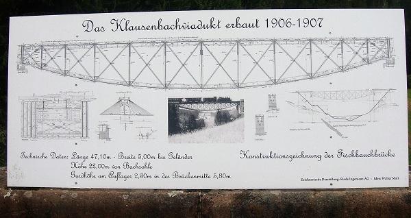 Konstruktionsplan zur passierten Brücke