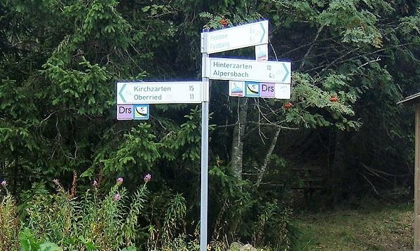 Kurz vor der rasanten Abfahrt nach Kirchzarten