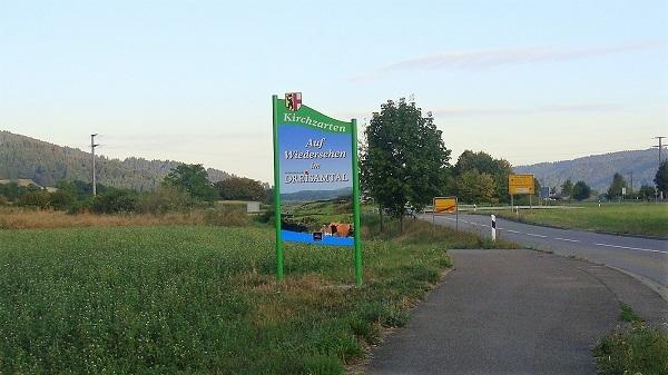 Am Ortsausgang von Kirchzarten