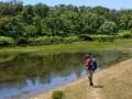 Amphibienweiher am Weg