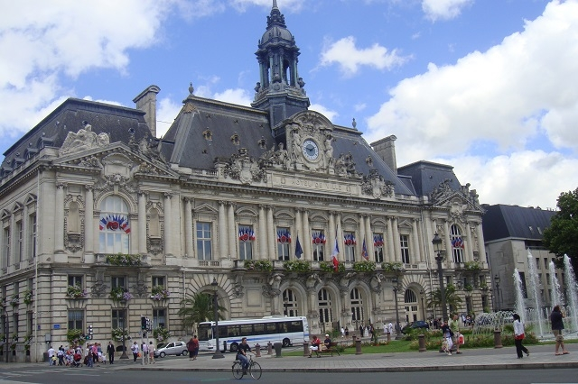 Das Hotel de Ville in Tours