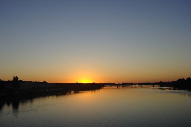 Sonnenuntergang über der Loire