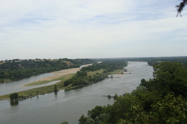 Aussicht auf die Loire von Champalud